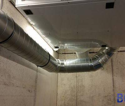 Chantier ventilation à Namur - Gaines