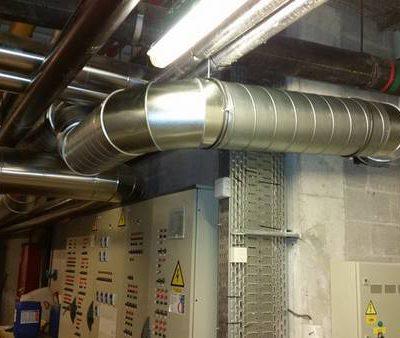 Gainage du système de ventilation des Thermes de Spa