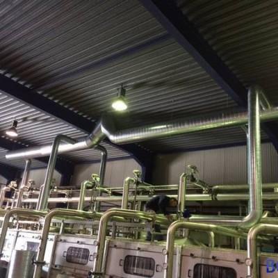 Gainage rejet d'air chez Villers Monopole (Ice Tea) - Installation réalisée par BC Tech
