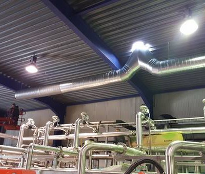 Gainage rejet d'air chez Villers Monopole (Ice Tea) - BC Tech Ventilation