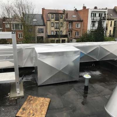 Chantier BC Tech - Installation d'un système de ventilation à Uccle (Bruxelles) / Projet Schlumberger