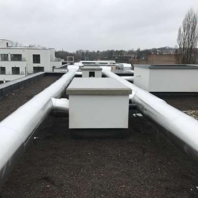 Projet Schlumberger - Chantier de ventilation BC Tech à Uccle (Bruxelles)