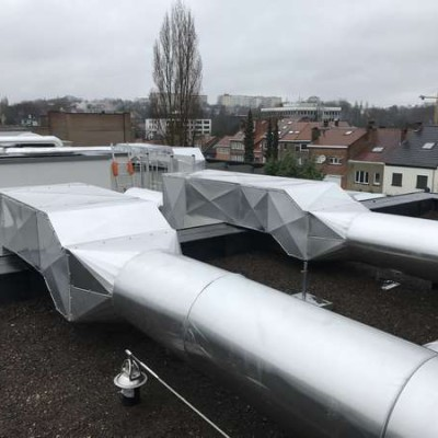 BC Tech: chantier de ventilation à Uccle (Bruxelles)