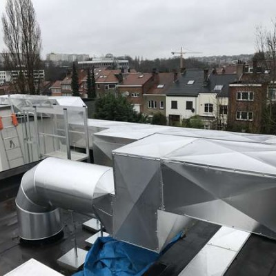 Image du chantier de ventilation BC Tech à Uccle (Bruxelles)