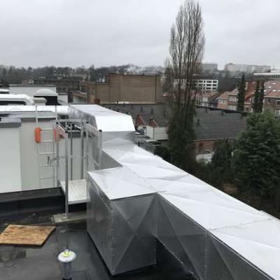 Système de ventilation à Uccle (Bruxelles) - Projet Schlumberger