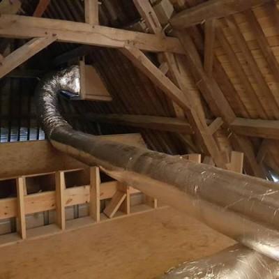 Gainage de ventilation pour vmc double flux - Éghezée / Namur (BC Tech)