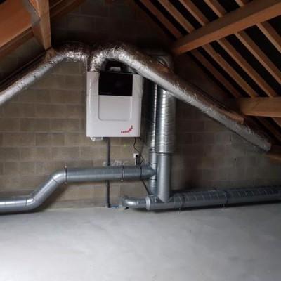 Installation d'une VMC (système de ventilation) Zehnder à Schaltin (Namur) - BC Tech