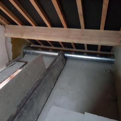 Gaine de ventilation - Ventilation Zehnder (BC Tech) - Chantier à Namur