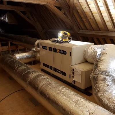Installation d'un système de ventilation double flux à Éghezée (Namur) - BC Tech