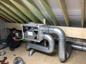 Installation d'un système de ventilation à Ernonheid (Liège) par BC Tech
