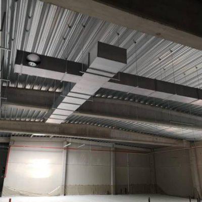 Réalisation BC Tech pour le Delhaize de Rhisnes (Namur) - Ventilation