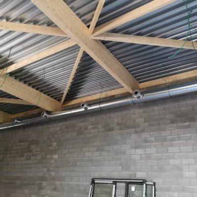 Salle de gym Vaux-sous-Chèvremont (Liège) - Ventilation BC TECH
