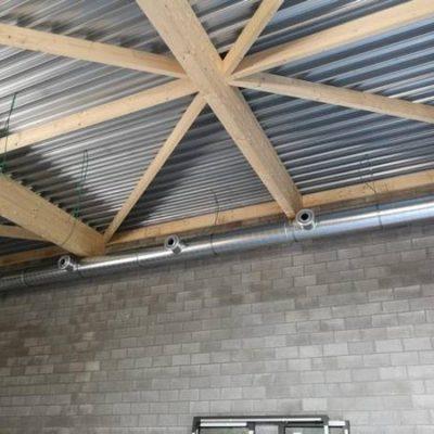 Ventilation BC TECH - Salle de gym Vaux-sous-Chèvremont (Liège)