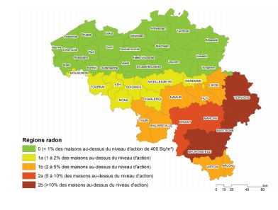 Le gaz radon en Belgique