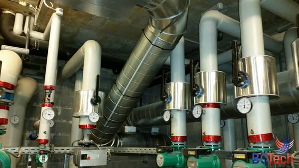 Installation du système de ventilation des Thermes à Spa (Liège)