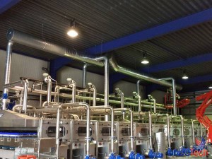 Installation BC Tech - Gainage rejet d'air chez Villers Monopole (Ice Tea)