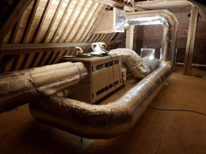 Installation d'une VMC double flux au sein d'une chapelle à Éghezée (Namur) - BC Tech